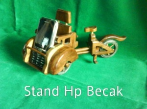 Mobile Phone Stand Becak