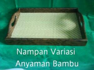 Nampan Variasi Anyaman Bambu