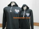 hoodie love korea hitam a