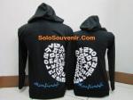 hoodie love korea hitam b