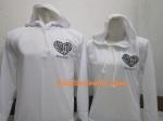 hoodie love korea putih a