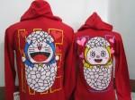 jaket doraemon merah b