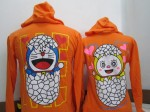 jaket doraemon orange b