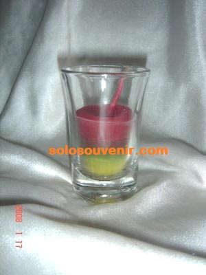Souvenir gelas, souvenir gelas flanel mica, gelas lilin, toples bulat ...