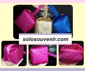Souvenir Pernikahan Dompet Glitter Mini