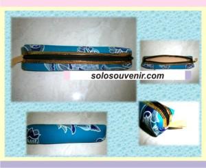 Souvenir Pernikahan Tempat Pensil Batik List Emas