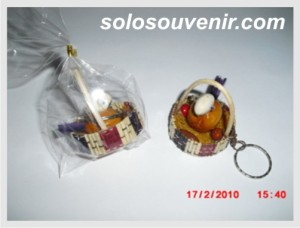 Souvenir Pernikahan Gantungan Kunci keranjang