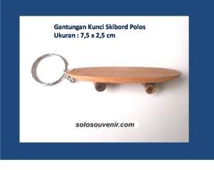 Souvenir Pernikahan Gantungan Kunci Skibord Polos