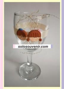 Souvenir Pernikahan Gelas Wine Clay Pita