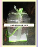 Souvenir Pernikahan Gelas hjs baru dove+kombinasi mika