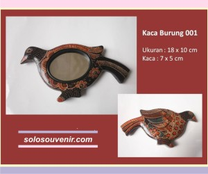 Souvenir Pernikahan kaca batik burung 001