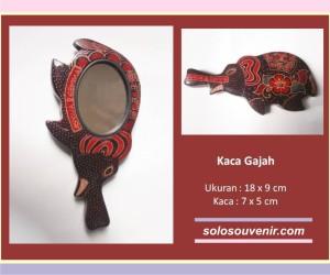 Souvenir Pernikahan kaca batik Gajah