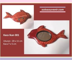 Souvenir Pernikahan kaca batik ikan 001