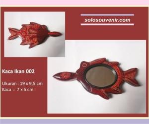Souvenir Pernikahan kaca batik ikan 002