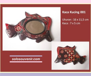 Souvenir Pernikahan kaca batik kucing 001