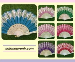 Souvenir Pernikahan Kipas Glitter Ujung Gelombang
