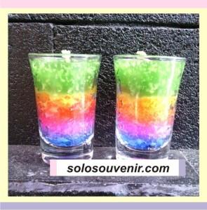 Souvenir Pernikahan Lilin Rainbow