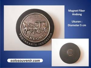 Souvenir Pernikahan Gantungan Kunci magnet fiber andong