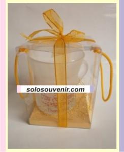 Souvenir Pernikahan Mug gagang besar dove mika