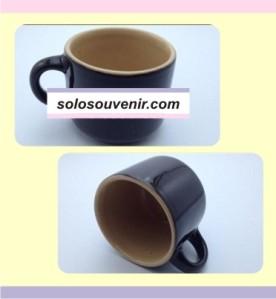 Souvenir Pernikahan Mug keramik Kecil Gagang Bulat(DMG09