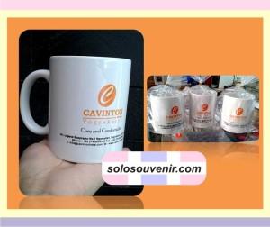 Souvenir Pernikahan Mug Keramik Putih Sablon 2 Warna