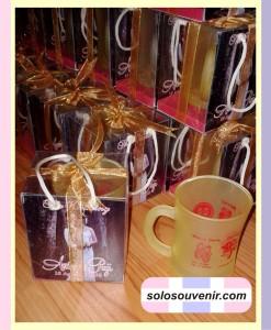 Souvenir Pernikahan Mug Langsing Doff Warna + Ucapan