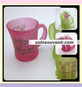Souvenir Pernikahan Mug langsing dove warna
