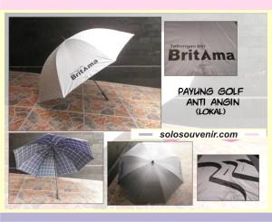 Souvenir Pernikahan Payung Golf Anti Angin ( lokal)