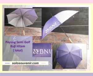 Souvenir Pernikahan Payung Semi Golf Ruji Hitam ( lokal)
