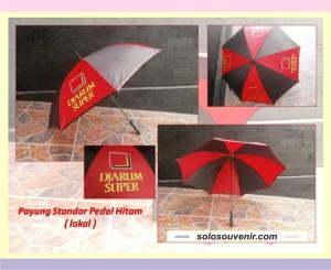Souvenir Pernikahan Payung Standar Pedal Hitam ( lokal)