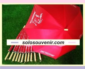 Souvenir Pernikahan Payung Standar Merah Sablon 4 Sisi