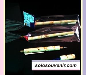 Souvenir Pernikahan Pen Bambu