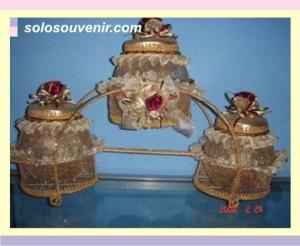 Souvenir Pernikahan toples isi 3 gold