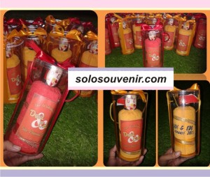 Souvenir Pernikahan Siraman Tabung Botol Bordir
