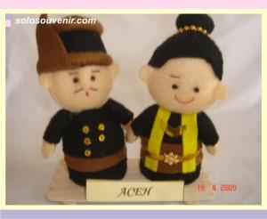 Souvenir Pernikahan boneka flanel aceh