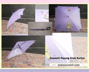 Souvenir Pernikahan payung anak kartun