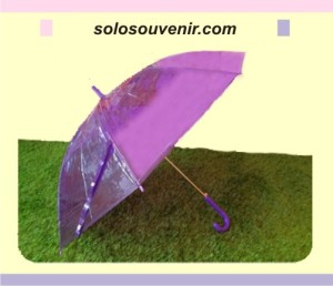 Souvenir Pernikahan Payung Transparan Warna Campur