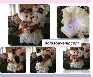 Souvenir Pernikahan Tempat Cicin Panda