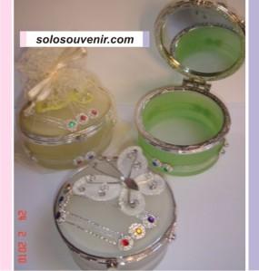 Souvenir Pernikahan Tempat perhiasan kaca warna