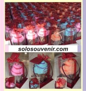 Souvenir Pernikahan Towel cake Ice Cream