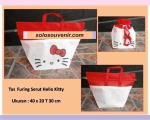 Souvenir Pernikahan Tas Furing Serut Hello kitty