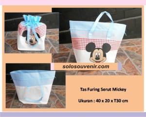 Souvenir Pernikahan Tas Furing Serut Mickey