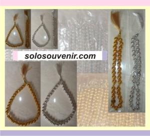 Souvenir Pernikahan Tasbih silver/gold