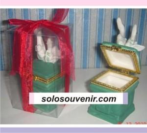 Souvenir Pernikahan Tempat Perhiasan angsa