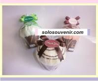 Souvenir Pernikahan towel muffin clay ( TC 01)