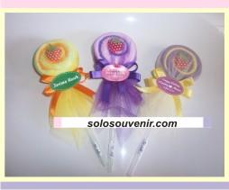 Souvenir Pernikahan towel Lollypop Flannel (08)