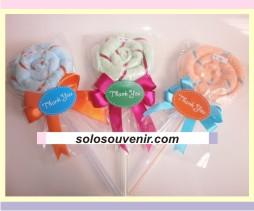 Souvenir Pernikahan towel lollypop lilit lipat (09)