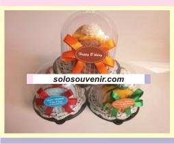 Souvenir Pernikahan towel cake roll bunga ( TC 20)