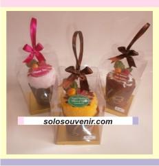 Souvenir Pernikahan towel cake cup cake fruity ( TC 22)