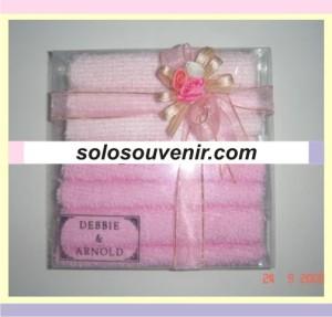 Souvenir Pernikahan towel cake double mika